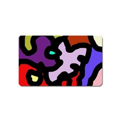 Colorful Abstraction By Moma Magnet (name Card) by Valentinaart