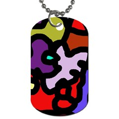 Colorful Abstraction By Moma Dog Tag (one Side) by Valentinaart