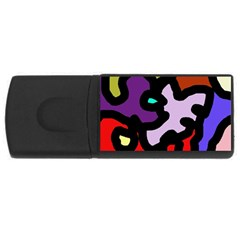 Colorful Abstraction By Moma Usb Flash Drive Rectangular (4 Gb)  by Valentinaart