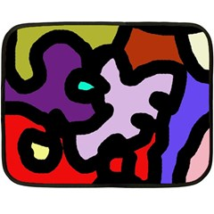 Colorful Abstraction By Moma Double Sided Fleece Blanket (mini)  by Valentinaart