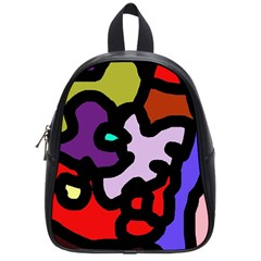 Colorful Abstraction By Moma School Bags (small)  by Valentinaart