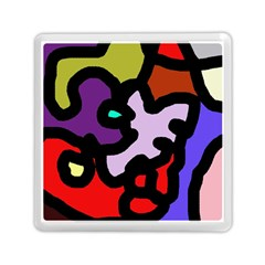 Colorful Abstraction By Moma Memory Card Reader (square)  by Valentinaart
