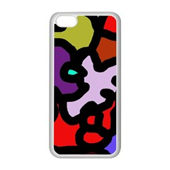 Colorful Abstraction By Moma Apple Iphone 5c Seamless Case (white) by Valentinaart