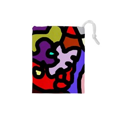 Colorful Abstraction By Moma Drawstring Pouches (small)  by Valentinaart