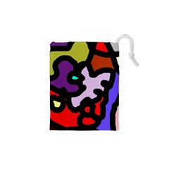 Colorful Abstraction By Moma Drawstring Pouches (xs)  by Valentinaart