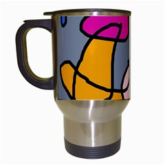 Colorful Abstract Design By Moma Travel Mugs (white) by Valentinaart