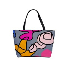 Colorful Abstract Design By Moma Shoulder Handbags by Valentinaart