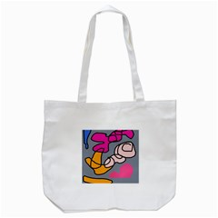 Colorful Abstract Design By Moma Tote Bag (white) by Valentinaart