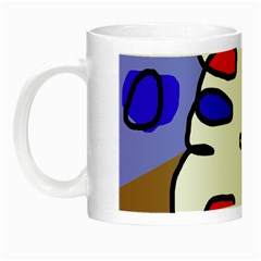 Abstract Comic Night Luminous Mugs by Valentinaart