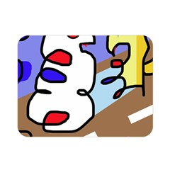 Abstract Comic Double Sided Flano Blanket (mini)  by Valentinaart