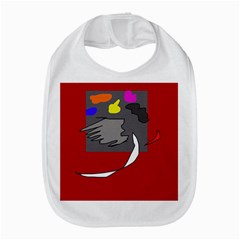 Red Abstraction By Moma Bib by Valentinaart