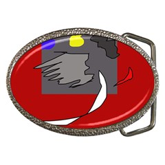 Red Abstraction By Moma Belt Buckles by Valentinaart