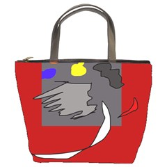 Red abstraction by Moma Bucket Bags by Valentinaart