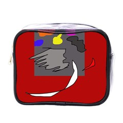 Red Abstraction By Moma Mini Toiletries Bags by Valentinaart