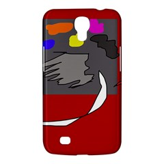 Red Abstraction By Moma Samsung Galaxy Mega 6 3  I9200 Hardshell Case by Valentinaart