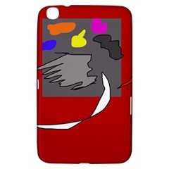 Red Abstraction By Moma Samsung Galaxy Tab 3 (8 ) T3100 Hardshell Case  by Valentinaart