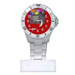 Red Abstraction By Moma Plastic Nurses Watch by Valentinaart