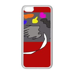 Red Abstraction By Moma Apple Iphone 5c Seamless Case (white) by Valentinaart