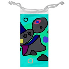 Blue Comic Abstract Jewelry Bags by Valentinaart