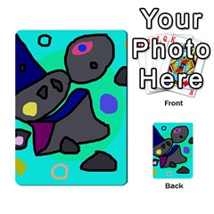 Blue Comic Abstract Multi Purpose Cards (rectangle)