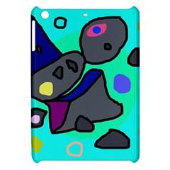 Blue Comic Abstract Apple Ipad Mini Hardshell Case by Valentinaart