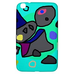 Blue Comic Abstract Samsung Galaxy Tab 3 (8 ) T3100 Hardshell Case  by Valentinaart