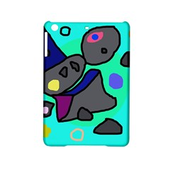 Blue Comic Abstract Ipad Mini 2 Hardshell Cases by Valentinaart
