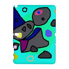 Blue Comic Abstract Samsung Galaxy Note 10 1 (p600) Hardshell Case by Valentinaart