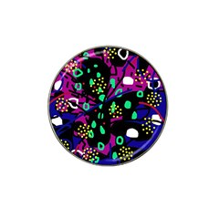 Abstract Colorful Chaos Hat Clip Ball Marker (4 Pack) by Valentinaart