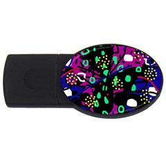 Abstract Colorful Chaos Usb Flash Drive Oval (4 Gb)  by Valentinaart