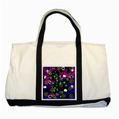 Abstract colorful chaos Two Tone Tote Bag by Valentinaart