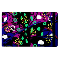 Abstract Colorful Chaos Apple Ipad 2 Flip Case by Valentinaart