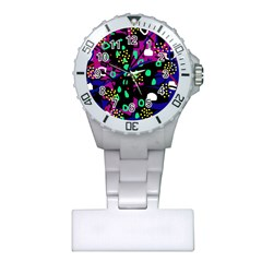 Abstract Colorful Chaos Plastic Nurses Watch by Valentinaart