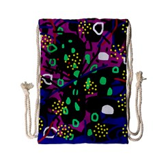 Abstract Colorful Chaos Drawstring Bag (small) by Valentinaart