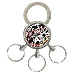 Colorful Chaos By Moma 3 Ring Key Chains by Valentinaart