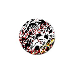 Colorful Chaos By Moma Golf Ball Marker by Valentinaart