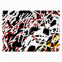 Colorful Chaos By Moma Large Glasses Cloth (2 Side) by Valentinaart