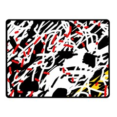 Colorful Chaos By Moma Fleece Blanket (small) by Valentinaart