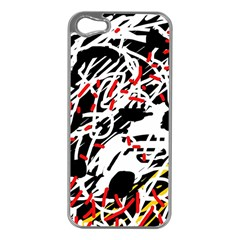 Colorful Chaos By Moma Apple Iphone 5 Case (silver) by Valentinaart