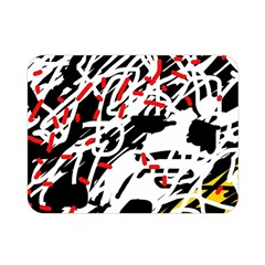 Colorful Chaos By Moma Double Sided Flano Blanket (mini)  by Valentinaart