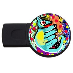 Abstract Animal Usb Flash Drive Round (2 Gb)