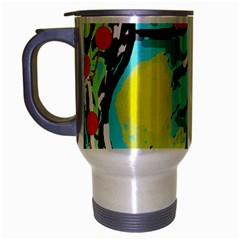 Abstract Animal Travel Mug (silver Gray) by Valentinaart