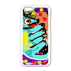 Abstract Animal Apple Iphone 6/6s White Enamel Case by Valentinaart