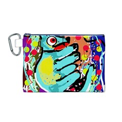 Abstract Animal Canvas Cosmetic Bag (m) by Valentinaart