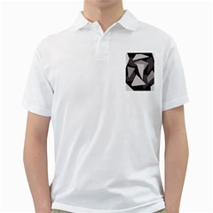 Simple Gray Abstraction Golf Shirts by Valentinaart