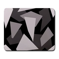 Simple Gray Abstraction Large Mousepads by Valentinaart