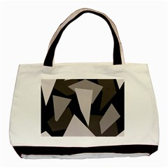 Simple Gray Abstraction Basic Tote Bag (two Sides) by Valentinaart