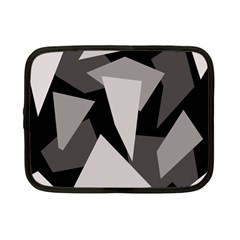 Simple Gray Abstraction Netbook Case (small)  by Valentinaart