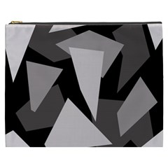 Simple Gray Abstraction Cosmetic Bag (xxxl)  by Valentinaart