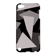 Simple Gray Abstraction Apple Ipod Touch 5 Hardshell Case by Valentinaart